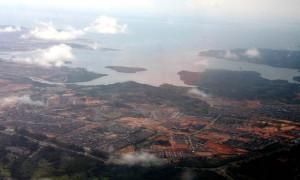 kawasan-industri di Batam dari udara
