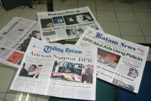 Headline Koran di Batam edisi Selasa 22 Juli 2008