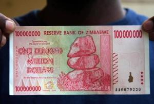 Pecahan 100 juta dolar Zimbabwe