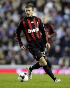 David Beckham berseragam AC Milan