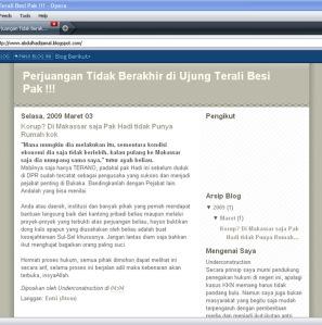 Tampilan blog Abdul Hadi Djamal