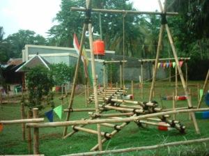 Lokasi outbond di taman wisata Situ Gintung