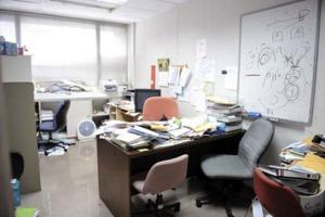 Ruangan Profesor Chan, yang menurut media massa Singapura, merupakan tempat David menyerang sang profesor.