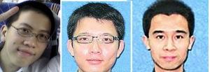 David Hartanto Widjaja, Zhou Zheng, dan Dr Hu Kunlun. Ketiga almarhum berasal dari fakultas EEE NTU, Singapura.