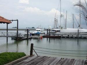 Sejumlah kapal pesiar diparkir di dermaga Nongsa Point Marina, Nongsa (eddy)