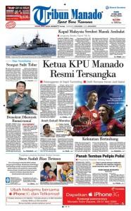 Tribun Manado edisi 27 Mei 2009 versi pertama
