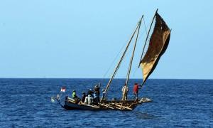 Nelayan Flores berangkat menangkap ikan paus (antara)