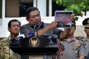 Foto SBY jadi Sasaran tembak