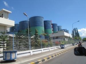 Kawasan industri di Bitung, Sulawesi Utara
