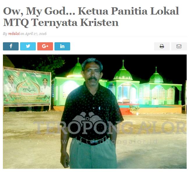 Pria Kristen Jadi Ketua Panitia MTQ di Alor